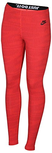 Nike Women's Leg A See Allover Print Leggings-Red-Medium