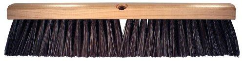 (PFERD 89320 Maintenance Lacquered Hardwood Block Heavy Floor Sweep Broom, Stiff Palmyra Bristles, 18