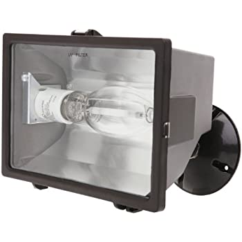 Designers Edge L 1760HPS 150 Watt High Pressure Sodium Commercial Flood  Light, Bronze