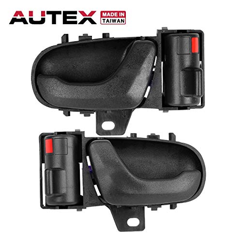 (AUTEX 2pcs Interior Front/Rear Left Right Door Handles Driver Passenger Side Compatible with GEO Metro 1989 1990 1991 1992 1993 1994 Door Handle 8313065E005ES 8311065E005ES)