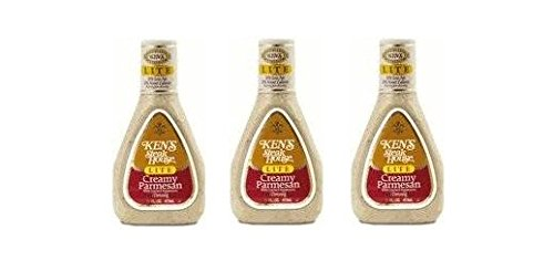 (Ken's Lite Creamy Parmesan Dressing (Pack of 3) 16 oz Bottles)