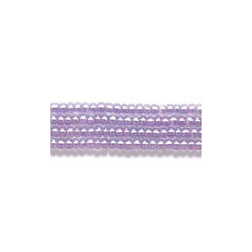 Preciosa Ornela Czech Seed Bead, Metallic Purple Lined Crystal Aurora Borealis Finish, Size ()
