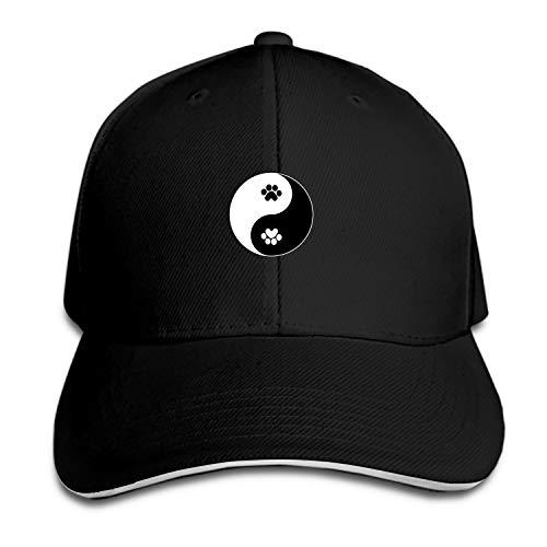 (Peaked hat Panda Yin Yang Black Adjustable Sandwich Baseball Cap Cotton Snapback)