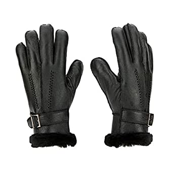 Sheepskin Gloves Men Shearling Leather Gloves Sheepskin