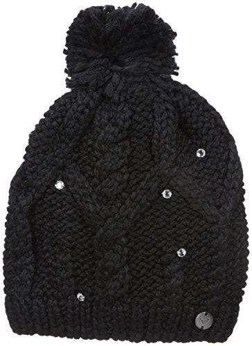 - Roxy Snow Junior's Shooting Star Pom Beanie, True Black, One Size