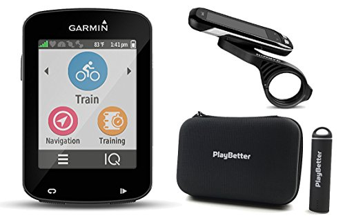 Garmin Edge 820 Cycle Bundle with PlayBetter Protective Silicone Case & HD Glass Screen Protectors (2 Pack) | Touchscreen Display, GPS Bike Computer (Black Case, GPS Only)