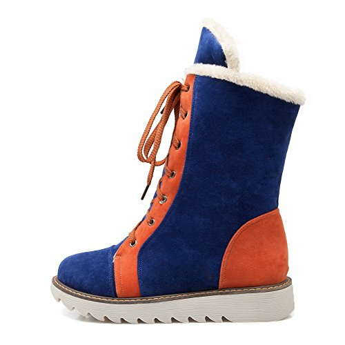 Women's Round Closed Toe High-Heels Frosted Low-Top Assorted Color Boots