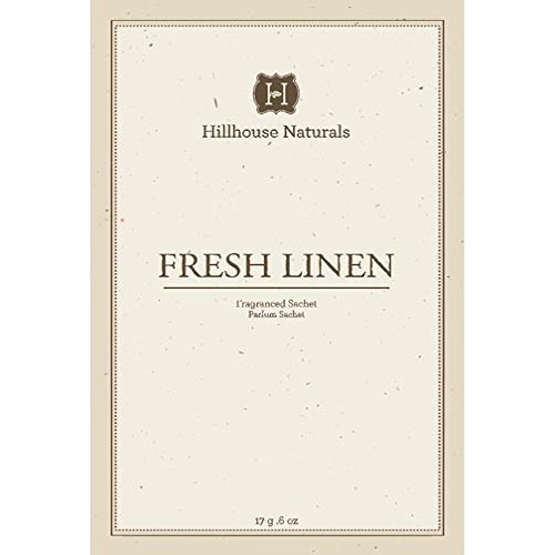 Hillhouse Naturals Sachet 0.6 Oz. Set of 6 - Fresh Linen by Hillhouse Naturals