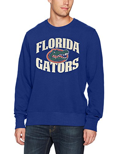 NCAA Florida Gators Men's OTS Fleece Crew, Distressed Marbleton, Large