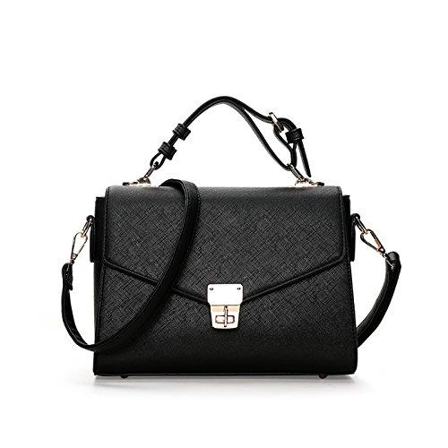 small bag bag square Black Tisdaini handbags ladies simple color lock Handbags single Messenger handbag fashion shoulder qY8Paqw
