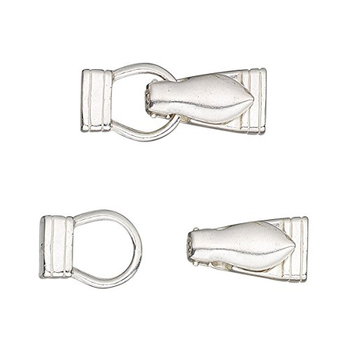 - Clasp magnetic fold-over sterling silver 25x10mm irregular rectangle