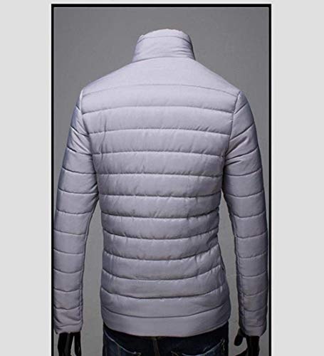 Young Men Jacket Warm Lightweight Jacket Coat Jacket Thick Quilted Long Collar Coat Winter Stand Fashion Outdoor Fit Sleeve Grau Jacket Packable Slim Parka Down Down vqwCnd