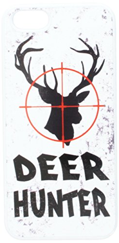 Graphics and More Deer Hunter Buck Hunting Distressed Snap-On Hard Protective Case for iPhone 5/5s - Non-Retail Packaging - White ()