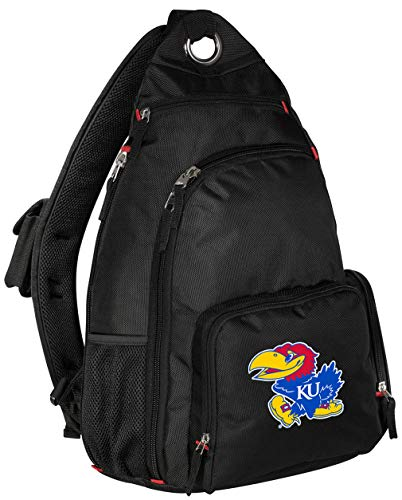 Broad Bay University of Kansas Backpack Single Strap Kansas Jayhawks Sling Backpack (Sling Bag Jayhawks Kansas)