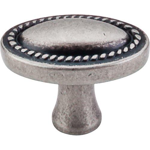 Top Knobs Oval Rope Knob Pewter (Pewter Rope Knob Rope)