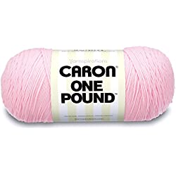 Caron One Pound Solids Yarn - (4) Medium Gauge 100% Acrylic - 16 oz - Pink- For Crochet, Knitting & Crafting