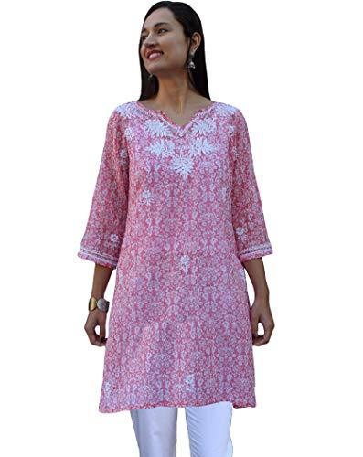 Ayurvastram Pure Cotton, Light weight, Printed, Hand Embroidered Tunic Top Kurti