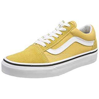 Vans Unisex Adults Old Skool Classic Suede/Canvas Sneakers, Yellow (Ochre/True White), 12 UK (47 EU)