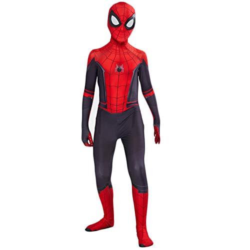 KN Halloween Cosplay Toddler Kids Spider Verse Miles Morales Gwen Jumpsuit Bodysuit Spider Tights Zentai Costume Red]()