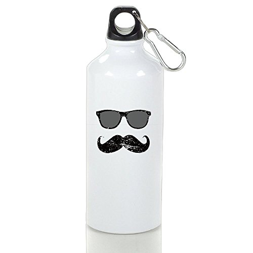 Han Incognito Boy - Funny Mustache And Sunglasses Cool Camping White Bottle Aluminum With - To Find The Sunglasses Perfect How