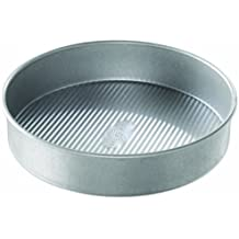 USA Pan Bakeware Round Cake Pan, 10 inch, Nonstick & Quick Release Coating, Made in the USA from Aluminized Steel