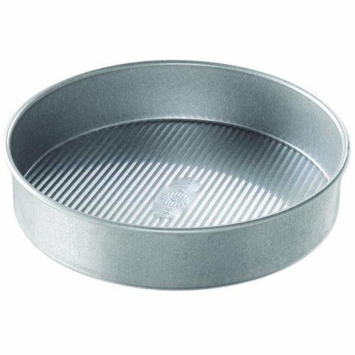 USA Pan 1080LC Bakeware Round Cake Pan, 10 inch, Nonstick & Quick Release Coating, Made in the USA from Aluminized Steel, 10