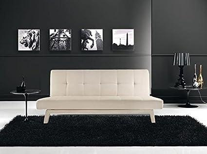 Divani Bianchi Ecopelle : Divano letto ecopelle bianco posti amazon casa e cucina
