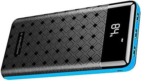 X-DRAGON 25000mAh Power Bank Paquete de Cargador de batería Externo portátil USB de 3 Puertos con 3 Salidas USB y entradas duales, Pantalla LCD para ...