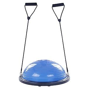 BuoQua Mezza Sfera Cupola Palla 60cm Balance Trainer Equilibrio Azzurro Palla Balance Trainer con Cinghie Laterali E… 1 spesavip