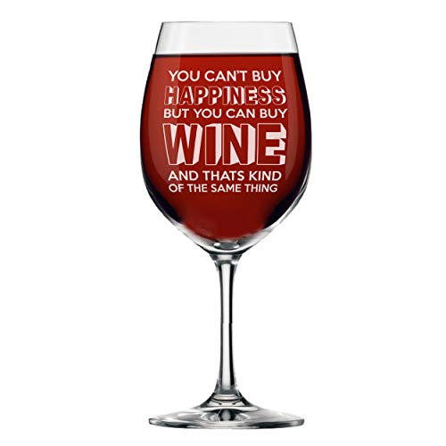 - My Personal Memories Fun Wine Glasses with Stem - Funny Wine Glass with Sayings Gifts for Women, Friends, Mom, Her - Mommy Juice and More (Happiness Style - Wine Glass WITH Stem 14oz)