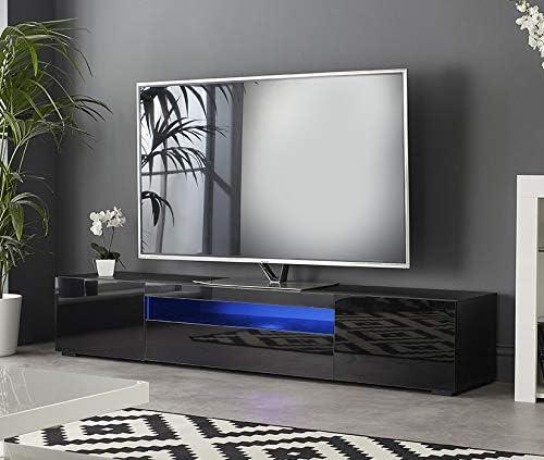 MMT DAIQ2000 - Mueble de TV para televisores de 65 70 75 80 Pulgadas con Luces LED (200 cm de Ancho): Amazon.es: Electrónica