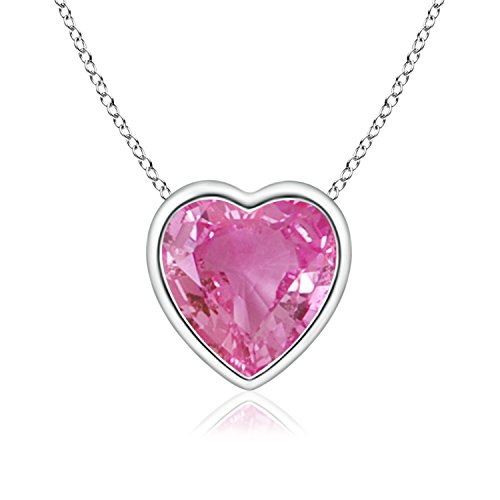 Buy sapphire heart necklace white gold