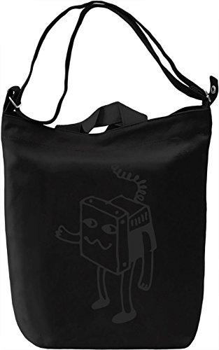 Robot Borsa Giornaliera Canvas Canvas Day Bag| 100% Premium Cotton Canvas| DTG Printing|
