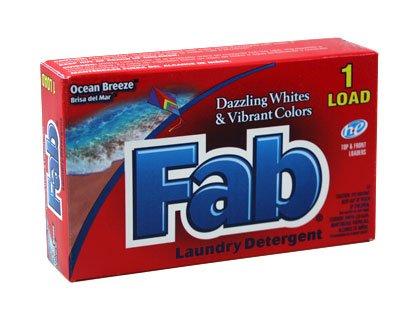 Fab Powder Detergent - Coin (Powder Laundry Detergent Coin)