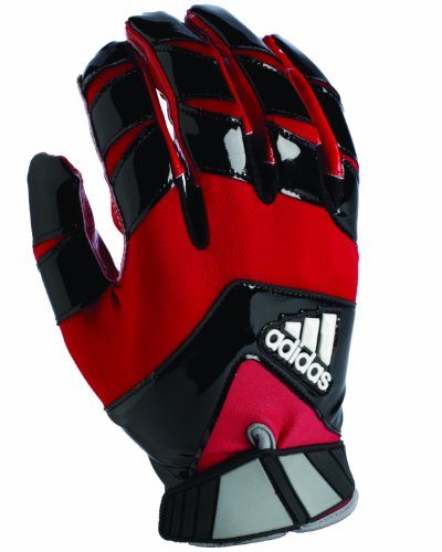 adidas Crazy Quick Football Receiver Gloves, Large, Black/Red
