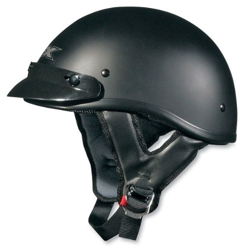 AFX FX-70 Unisex-Adult Half-Size-Helmet-Style Beanie Helmet (Flat Black, X-Large)