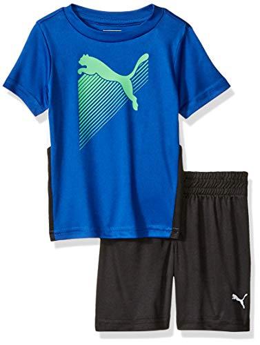 PUMA Baby Boys' T-Shirt & Short Set, Surf The Web, 12 Months