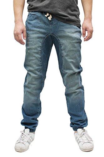 Americano Men s Vintage Drop Crotch Denim Jogger Pants Denim Jogger Dark Indigo Medium (Vintage Wash Twill Jean)