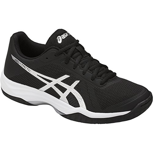 ASICS Women's Gel-Tactic 2 Volleyball Shoe, Black/Silver/White, 9.5 Medium US
