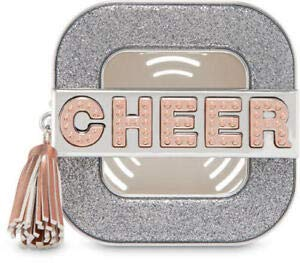 Bath and Body Works Cheer Scentportable Visor Clip Shimmering Silver and Gold (Cheer Visor)
