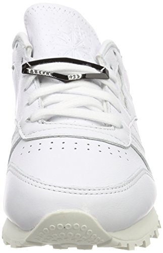 Femme Leather Whitechalk Blanc Classic Whitechalk Baskets Hardware Reebok Cassé waqxSIv58