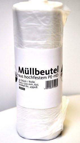 Müllsäcke Müllbeutel Abfallbeutel Müllsack 60 Lt.630x740mm transparent 50 Stück
