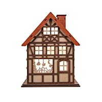 """Clever Creations 24 Day Advent Calendar Christmas House Shaped Countdown 