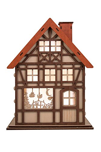 (Clever Creations 24 Day Advent Calendar Christmas House Shaped Countdown | Natural Wood Numbers | 100% Wood Construction | Holiday Decoration | Measures 9.75