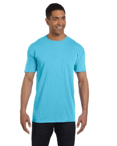 (Comfort Colors Pigment-Dyed Short Sleeve Shirt, S, Lagoon Blue)