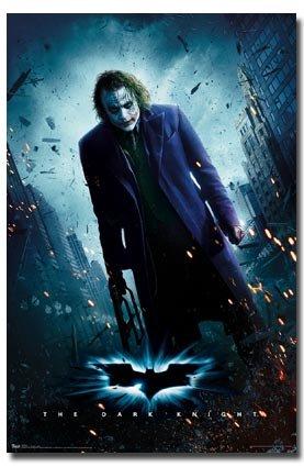(22x34) The Dark Knight Movie (Joker Standing) (Dark Knight Joker Poster)