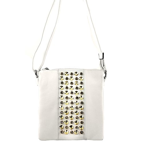 Body Messenger Justin Purse Pastel Fashion Luxury Cross West Bag Studded White Rhinestones Fashion Bling zzwH4qBv