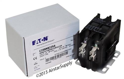 [Square D 8910DP22V02 - Replaced by Eaton / Cutler Hammer C25BNB225A Contactor , 2-Pole , 25 Amp , 120 VAC Coil Voltage] (Eaton Relay)