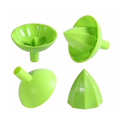 Exprimidor de limones PaWa Exprimidor de zumos de plástico y cítricos en verde (1 pieza