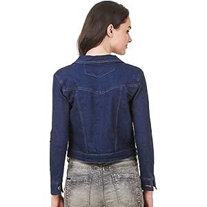 KING-DENIM Shree Kmt Enterprises Full Sleeves Comfort Fit Regular Collar Blue Jacket for Women…